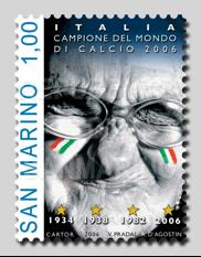 Francobolli San Marino: Italia campione del mondo 2006
